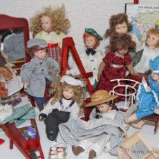 Muñecas Españolas Modernas: MU081 COLECCIÓN DE 11 MUÑECAS DE PORCELANA. CON COMPLEMENTOS. ESPAÑA. AÑOS 90. Lote 54486337