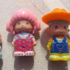 Muñecas Españolas Modernas: FAMILIA DE MUÑECOS PIN Y PON ANTIGUOS CON EL BEBE REF 22. Lote 55134387