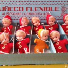 Muñecas Españolas Modernas: 12 UNID. MUÑECO TRAPO (16 CM) PITIDO.GUILLEM Y VICEDO 70S.EMBALAJE ORIGINAL DE FÁBRICA.. Lote 57115529
