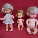 Muñecas Españolas Modernas: LOTE DE TRES MUÑECAS AÑOS 60. Lote 57545323