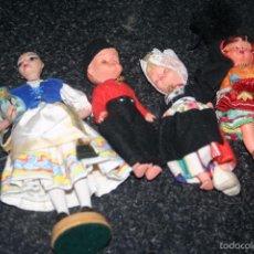 Muñecas Españolas Modernas: LOTE DE ANTIGUAS MUÑECAS REGIONALES. Lote 58537821