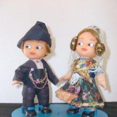 Muñecas Españolas Modernas: PAREJA CON TRAJES REGIONALES.. Lote 59824052