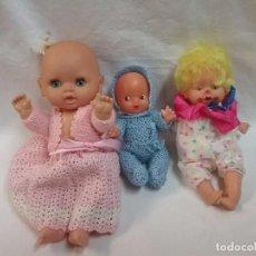 Muñecas Españolas Modernas: MUÑECA LOTE DE TRES MUÑECAS ANTIGUAS . Lote 62620380
