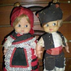 Muñecas Españolas Modernas: PAREJA DE MUÑECAS REGIONAL SIN MARCA AÑOS 60 MINA?. Lote 63107884