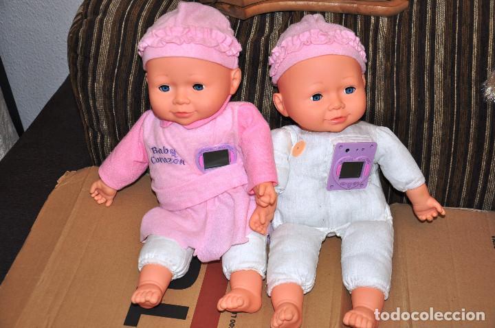 LOTE 2 MUÑECOS BABY CORAZON (Juguetes - Otras Muñecas Españolas Modernas)