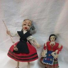 Muñecas Españolas Modernas: LOTE ANTIGUA MUÑECA REGIONAL REGIONALES DE TELA Y FIELTRO. Lote 64497167
