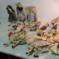 Muñecas Españolas Modernas: LOTE DE MUÑECOS CON TRAJES REGIONALES AÑOS 60 -70. Lote 97903967
