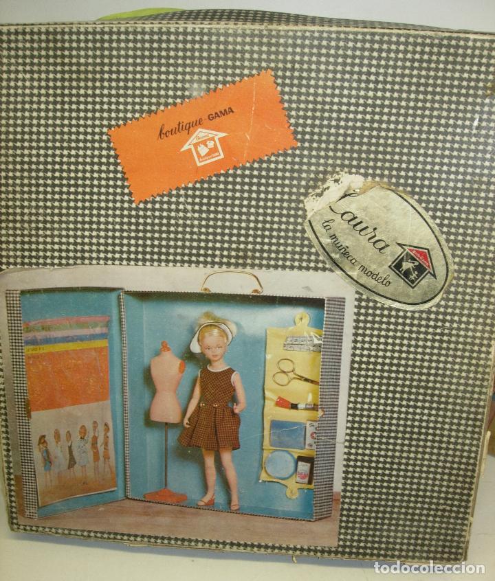 Muñecas Españolas Modernas: Muñeca LAURA MANIQUI BOUTIQUE de Novo-Gama Novogama años 60 con caja y patrones - Foto 3 - 195337032