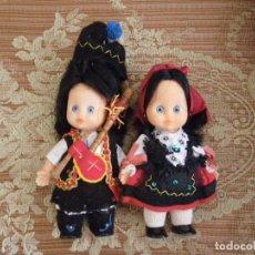 Muñecas Españolas Modernas: LOTE DE 2 MUÑECAS CON TRAJE REGIONAL , VERR. Lote 69075841