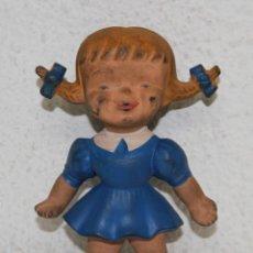 Muñecas Españolas Modernas: MU141 MUÑECA CON PUBLICIDAD DE AUSONIA. GOMA. PRECISA LIMPIEZA. ESPAÑA. AÑOS 60. Lote 72118063
