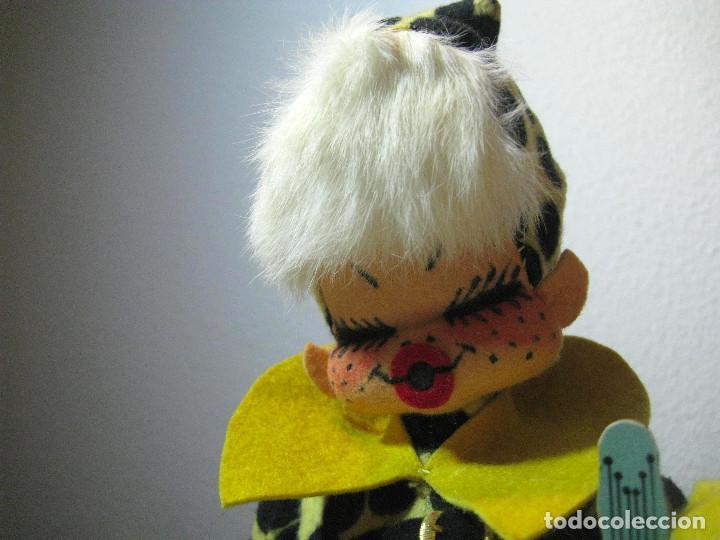 Muñecas Españolas Modernas: MUÑECA PUNK FIELTRO FELPA AÑOS 70 - Foto 3 - 72268623