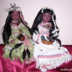 Muñecas Españolas Modernas: 1 MUÑECA INDIA DE VINILO-BONITA, PRECIOSA, NUEVA-CASI 59 CM +O-, -NAVIDAD.-COMUNIÓN-COLECCIÓN-ASI. Lote 52901035