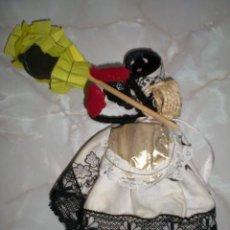 Muñecas Españolas Modernas: MUÑECA ARTESANIA EN ALAMBRE Y TELA AÑOS 70. Lote 73650183