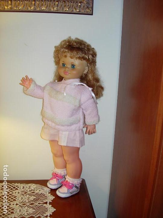 Muñecas Españolas Modernas: Muñeca desconocida de los años 60, parece de Novogama de 60 cm - Foto 3 - 74346239