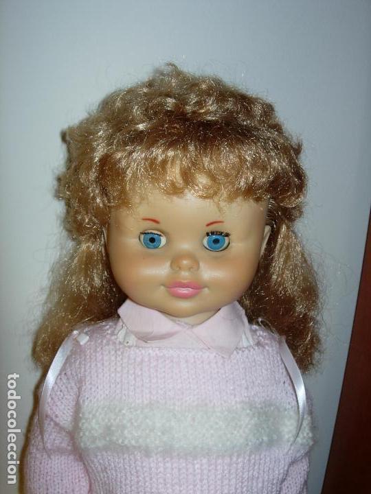 Muñecas Españolas Modernas: Muñeca desconocida de los años 60, parece de Novogama de 60 cm - Foto 6 - 74346239