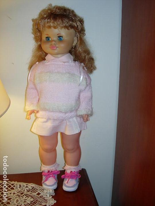 Muñecas Españolas Modernas: Muñeca desconocida de los años 60, parece de Novogama de 60 cm - Foto 7 - 74346239