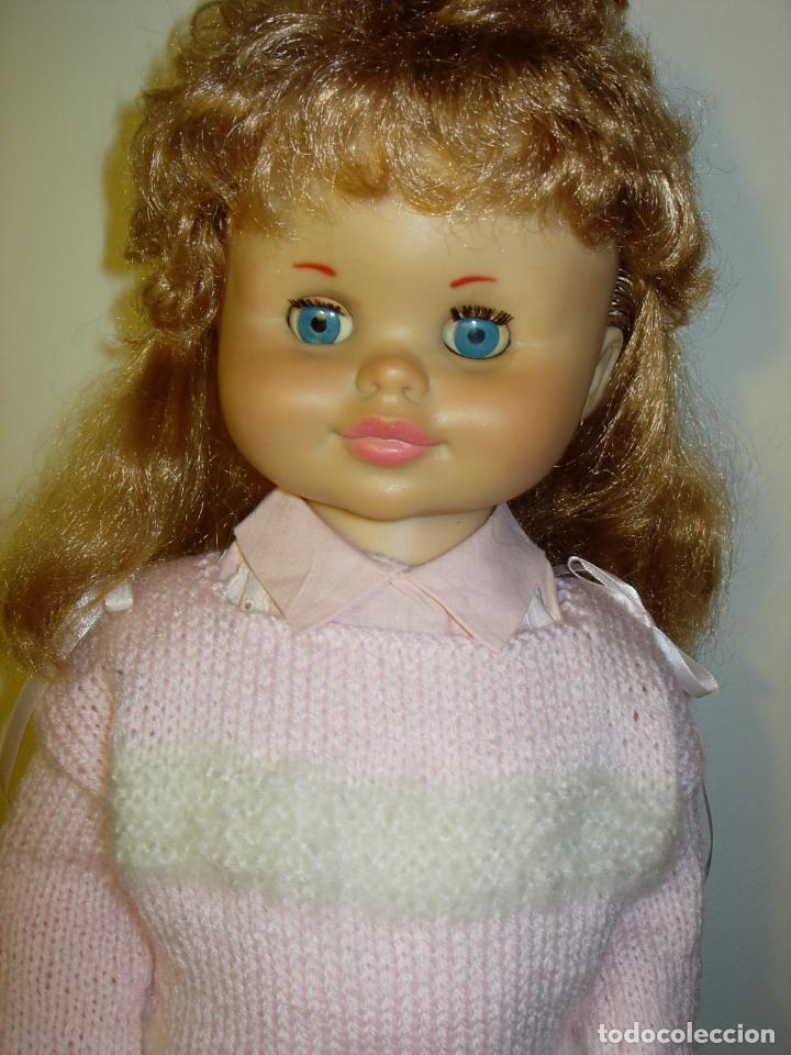 Muñecas Españolas Modernas: Muñeca desconocida de los años 60, parece de Novogama de 60 cm - Foto 10 - 74346239