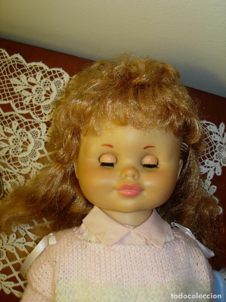 Muñecas Españolas Modernas: Muñeca desconocida de los años 60, parece de Novogama de 60 cm - Foto 12 - 74346239