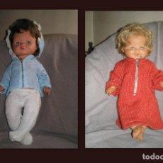 Muñecas Españolas Modernas: 2 MUÑECOS AÑOS 60-70. Lote 75720859