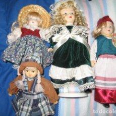 Muñecas Españolas Modernas: LOTE DE MUÑECAS PEQUEÑAS DE PORCELANA. Lote 77537573