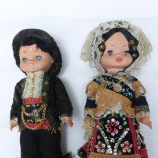 Muñecas Españolas Modernas: ANTIGUA PAREJA DE MUÑECA Y MUÑECO CHARROS DE SALAMANCA CON TODOS LOS COMPLEMENTOS DE TRAJE CHARRO. Lote 82151248