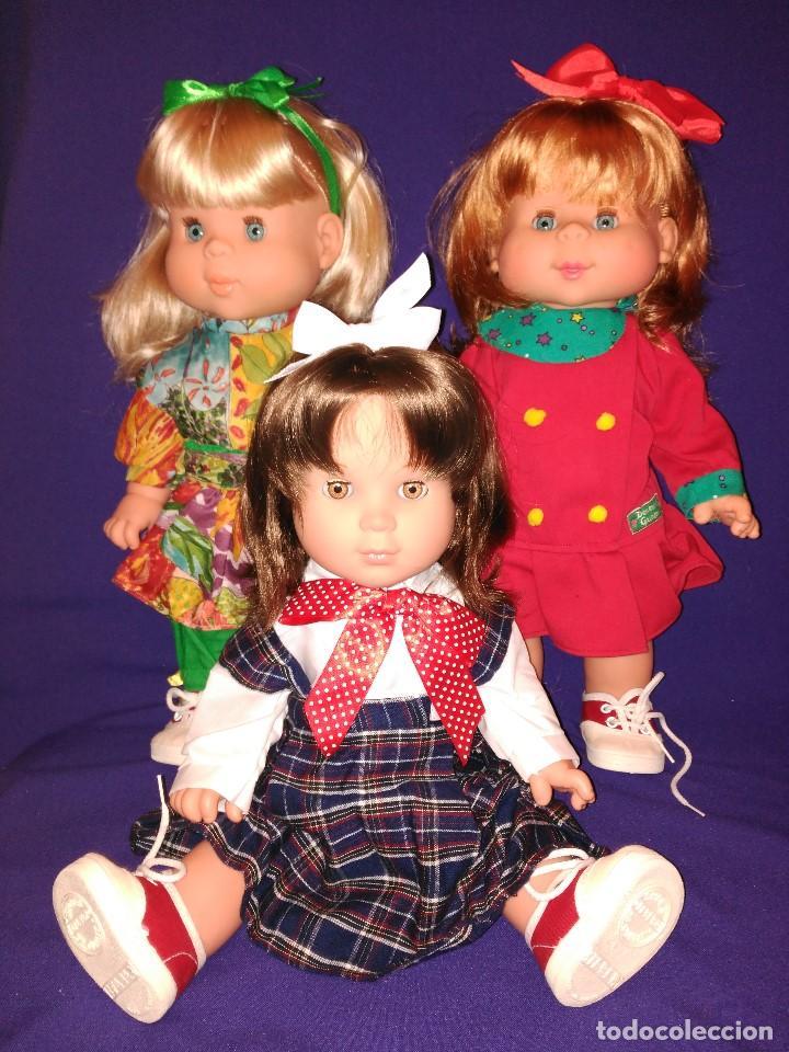 Muñecas Españolas Modernas: 3 Muñecas Feber de los 90,coleccion DENENAS GUAPAS,hermanas de pocas pecas - Foto 17 - 82947804