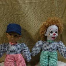 Muñecas Españolas Modernas: PAREJA MUÑECAS DE TRAPO, PAOLA REINA. Lote 83609972