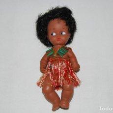 Muñecas Españolas Modernas: MUÑECA SILQUI JOSE QUILIS NEGRITA NEGRA HAWAIANA NO BARRIGUITAS NANCY . Lote 84649496