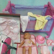 Muñecas Españolas Modernas: LOTE DE MUÑECO BABY BORN,ESPECIAL PARA VACACIONES. Lote 84889968