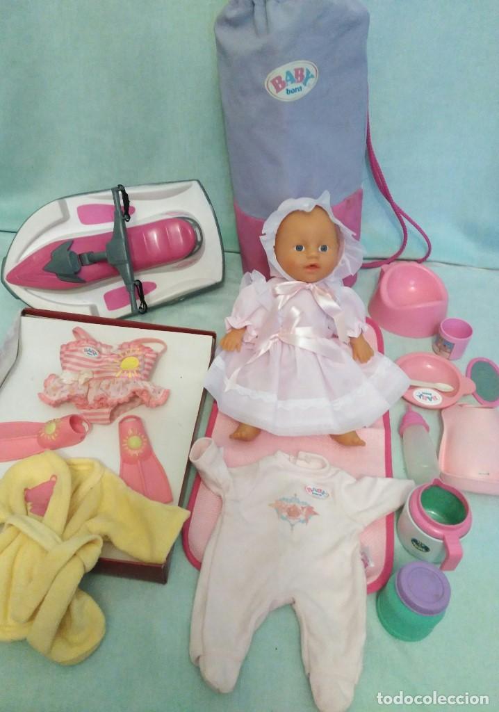 Muñecas Españolas Modernas: Lote de muñeco Baby Born,especial para vacaciones - Foto 2 - 84889968