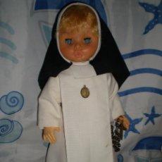 Muñecas Españolas Modernas: MUÑECA AÑOS 50/60 HABITO MONJA 47 CM POSIBLEMENTE CRISTINA NOVO GAMA SERIE DELTA? BRAZOS CON GOMAS. Lote 86170028