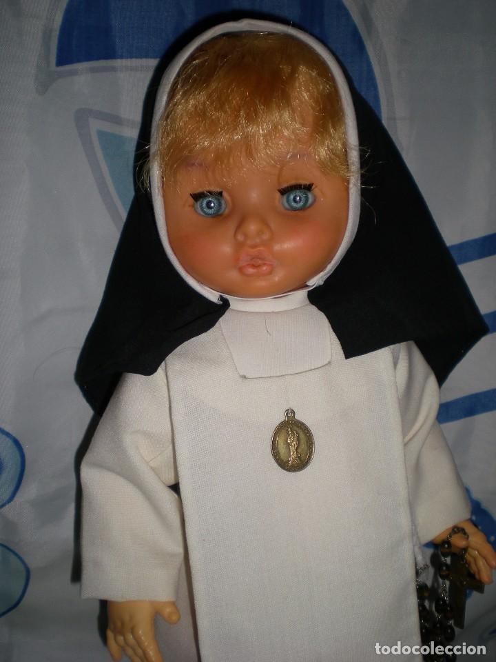 Muñecas Españolas Modernas: muñeca años 50/60 habito monja 47 cm posiblemente cristina novo gama serie delta? brazos con gomas - Foto 2 - 86170028