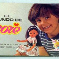 Muñecas Españolas Modernas: CATÁLOGO CORE BB 1977 EL MUNDO DE CORE. Lote 86639284