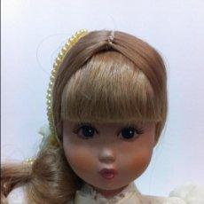 Muñecas Españolas Modernas: MUÑECA PORCELANA MENTA Y CANELA VESTIDO BORDADOS Y CAJA ORIGINAL. Lote 86753128