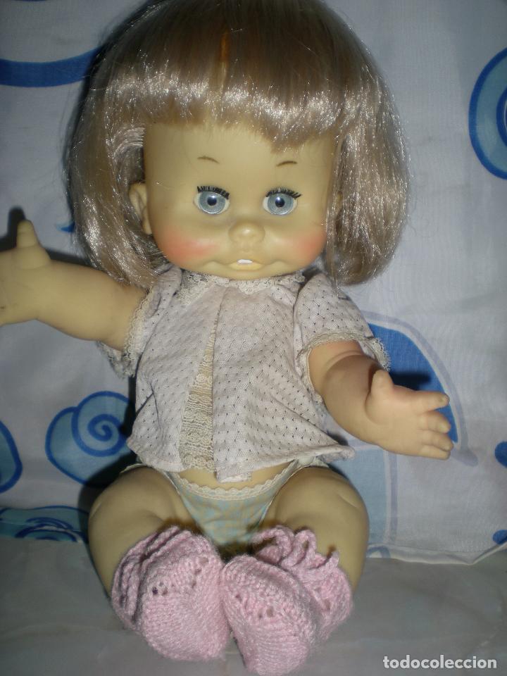 Muñecas Españolas Modernas: graciosa muñeca de goma años 70 iris margarita marca b.b.melina o lice? 37 cm completa de origen - Foto 20 - 83717400