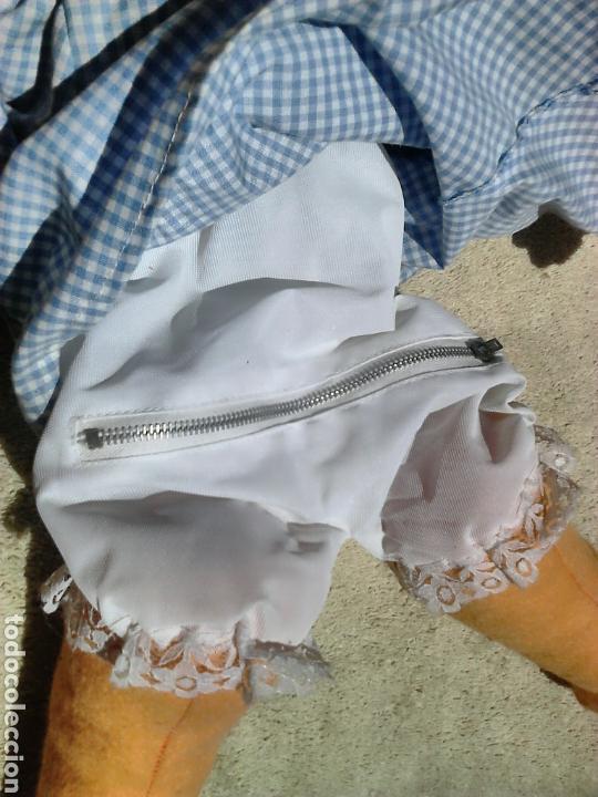 Muñecas Españolas Modernas: Preciosa muñeca, de fieltro,guarda pijama,años 70-80 - Foto 6 - 86997295