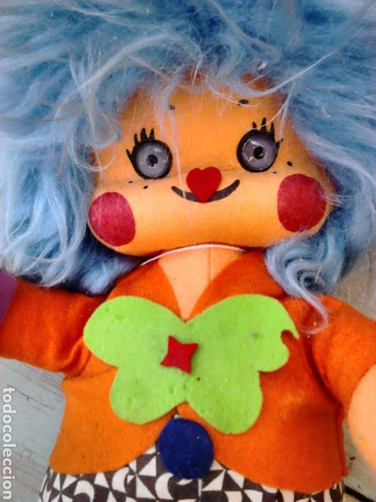 Muñecas Españolas Modernas: Precioso muñeco payaso de fieltro,creaciones carmina made in spain,años 70-80 - Foto 2 - 86999371