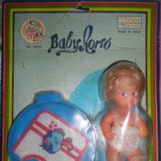 Muñecas Españolas Modernas: MUÑECO BABY RORRO+ ACCESORIOS,MARCA JOSE QUILIS ONIL SPAIN AÑOS 60 NUEVO SIN USO RESTOS DE FABRICA. Lote 88965856
