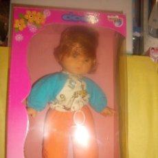 Muñecas Españolas Modernas: MUÑECO DODÓ LLORA Y DICE MAMA, DE CANDYS, REF 010, AÑOS 80, FUNCIONANDO, NUEVO SIN ABRIR.. Lote 90047120