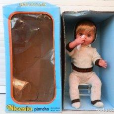 Muñecas Españolas Modernas: ANTIGUA MUÑECA VIVIENTE AUTÓMATA NICASIA FABRICANTE ESVI MADE IN SPAIN AÑOS 70.. Lote 92287295
