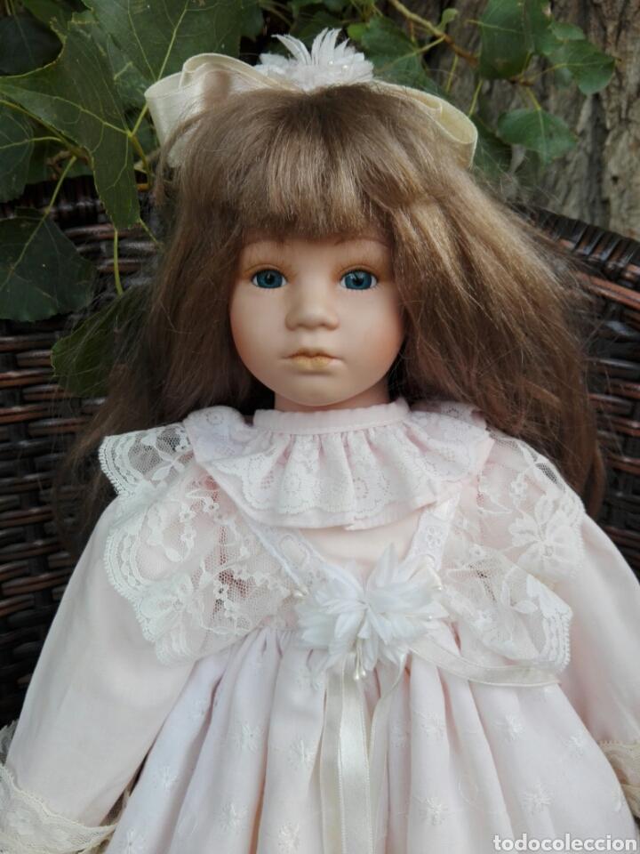 Muñecas Españolas Modernas: Preciosa muñeca muy realista de porcelana con vestido de encaje 42 cm - Foto 2 - 93111940