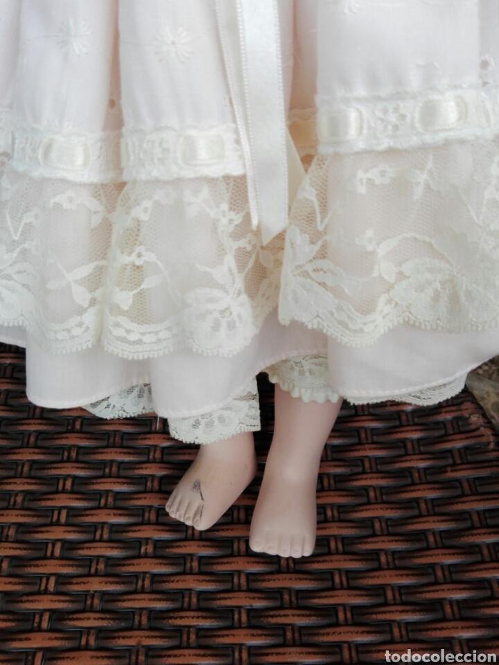 Muñecas Españolas Modernas: Preciosa muñeca muy realista de porcelana con vestido de encaje 42 cm - Foto 3 - 93111940