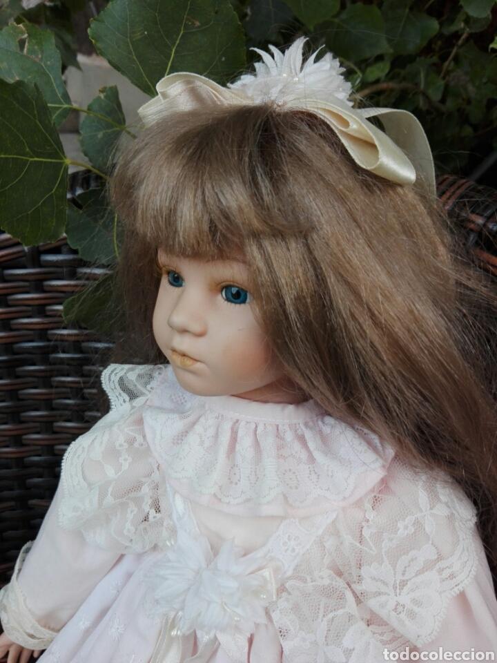 Muñecas Españolas Modernas: Preciosa muñeca muy realista de porcelana con vestido de encaje 42 cm - Foto 4 - 93111940