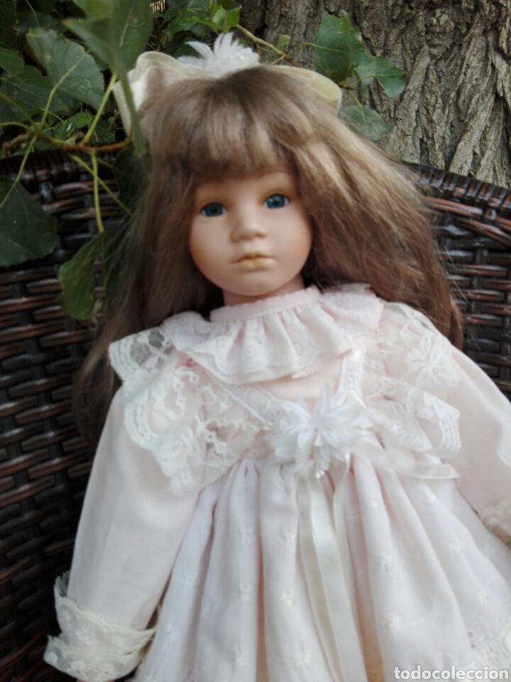 Muñecas Españolas Modernas: Preciosa muñeca muy realista de porcelana con vestido de encaje 42 cm - Foto 5 - 93111940