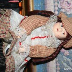 Muñecas Españolas Modernas: MUÑECA PORCELANA Y TRAPO. Lote 95583555