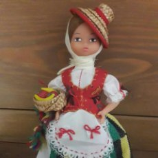 Muñecas Españolas Modernas: MUÑECA ARTESANA BEIBI / AUTÉNTICO TRAJE REGIONAL / AÑOS 60 / 23 ALTO. Lote 96293863