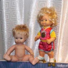 Muñecas Españolas Modernas: ROLY PATINADORA DE JESMAR & BABY MOCOSETE DE TOYSE. ***PACK DE OFERTA***.. Lote 97242603
