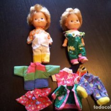 Muñecas Españolas Modernas: 2 MUÑECAS POCAS PECAS CON ROPA SUELTA.. Lote 98141759