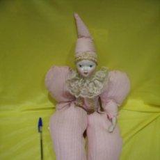 Muñecas Españolas Modernas: ARLEQUÍN PORCELANA DE ¨RAMÓN INGLES Y JOSEFINA, AÑOS 80, 60 CM, NUEVO CAJA ORIGINAL.. Lote 98956459