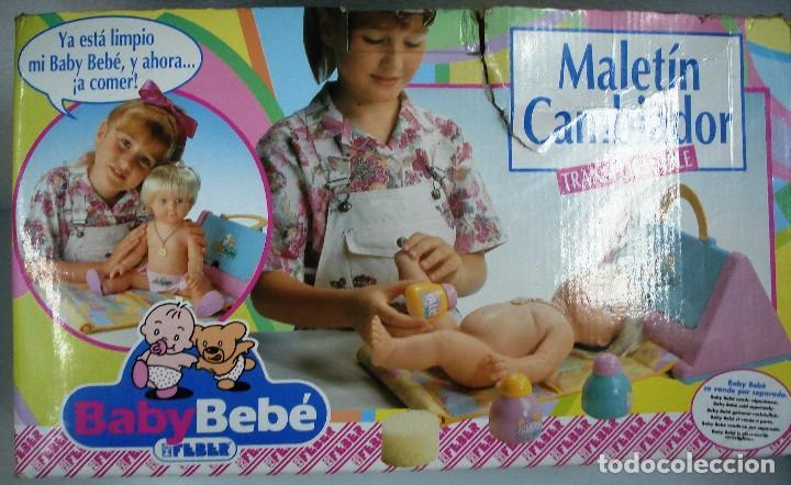 BABYBEBÉ: MALETÍN CAMBIADOR CONVERTIBLE BABYBEBÉ. DE FEBER ¡NUEVO, ORIGINAL!CAJA IMPECABLE. AÑOS 90. (Juguetes - Otras Muñecas Españolas Modernas)